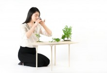 Чайный столик с пейзажем