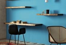Полки и стол — простое дерево