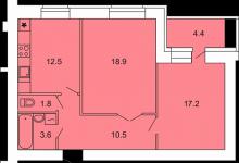 Помогите!  как выжать максимум из двухкомнатой квартиры свободной планировки