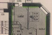 Помогите пожалуйста с перепланировкой квартири 45,09м.кв