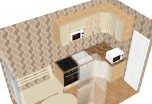 Помогите распланировать кухню 7,5 кв.м.