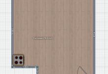 Помогите расставить мебель в кухне-гостиной 19,5 кв.м.