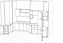 Помогите с расстановкой мебели на кухне