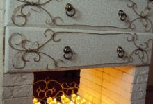 Превращаем комод в свечной каминчик.