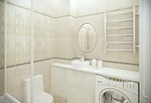 Продолжение квартиры 43 кв. м.  Ванная