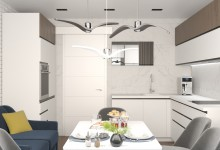 Проект современной кухни с эркером