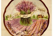 Прованс в росписи фарфоровых тарелок.