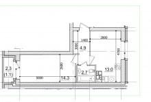 Распашонка-однушка (36м) - возможна ли перепланировка