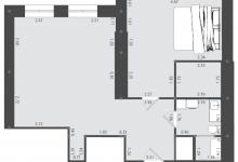 Расстановка мебели (кухня-гостиная, спальня)