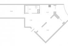 Расстановка мебели в кухне - трапеции, планировка кухни