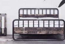 Кровать в индустриальном стиле