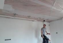 Рисунок абстракция на натяжном потолке