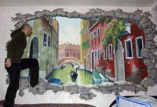 Роспись стен. Москва. Окно в Венецию!