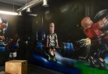 Роспись стен в спортзале
