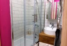 Розовый туалет и ванная комната