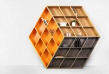 Книжный стеллаж: обман зрения и кубик Рубика