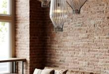 Три светильника: стекло и металл