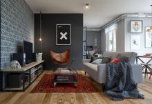 Серый цвет в интерьере. Квартира в Минске.
