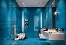 Синяя ванная комната 2,9 кв м , обустраиваемся)