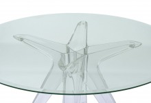 Прозрачный круглый стол