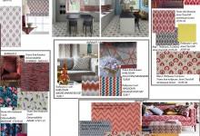 Сочетание текстиля на примере кухни