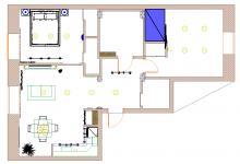 Современная квартира для троих с антикварными часами.1.Выбор квартиры и планировка.