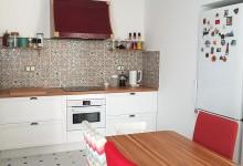 Светлая квартира с панорамными окнами - часть 2. Кухня