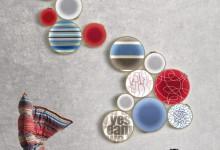 Настенный светильник - вместо вышивки и картин