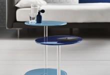 Столы-линзы из цветного стекла