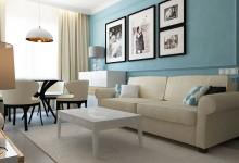 Интерьер гостиной в типовой квартире