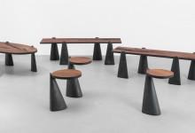 Металл и дерево - столы необычной формы