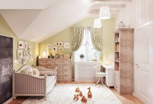 Уютная детская комната на мансардном этаже