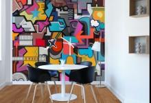 Улица приходит в дом: граффити и неоновые надписи в интерьере