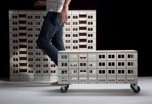 Урбанистические нотки: мебель в виде панельных многоэтажек