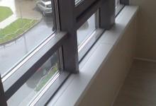 Утепление и отделка лоджии с холодным фасадным остеклением