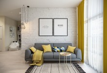 Квартира 45 кв.м. в скандинавском стиле в ЖК Рассказово