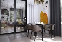 Загородный дом в Саратове: кухня-гостиная