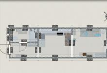 Зарисовка планировки студии 23м². Необходима критика!