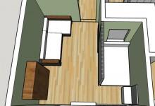 Застрял на планировке не стандартной комнаты :(