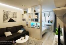 Зонирование пространства: Спальня-гостиная 20 м
