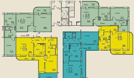 Перепланировка хрущевки с 2 смежными комнатами