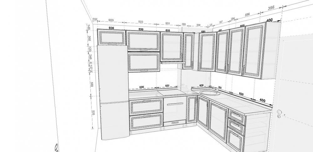 Кухня с вентиляционным коробом! прошу помощи в проекте! идеи.