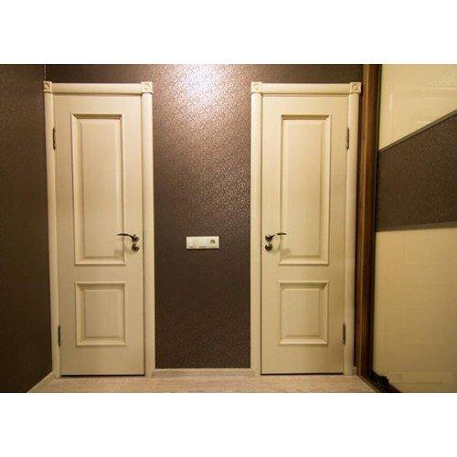 Двери цвет ваниль в интерьере