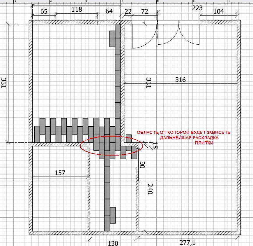 Масштаб квартиры соблюден плитка