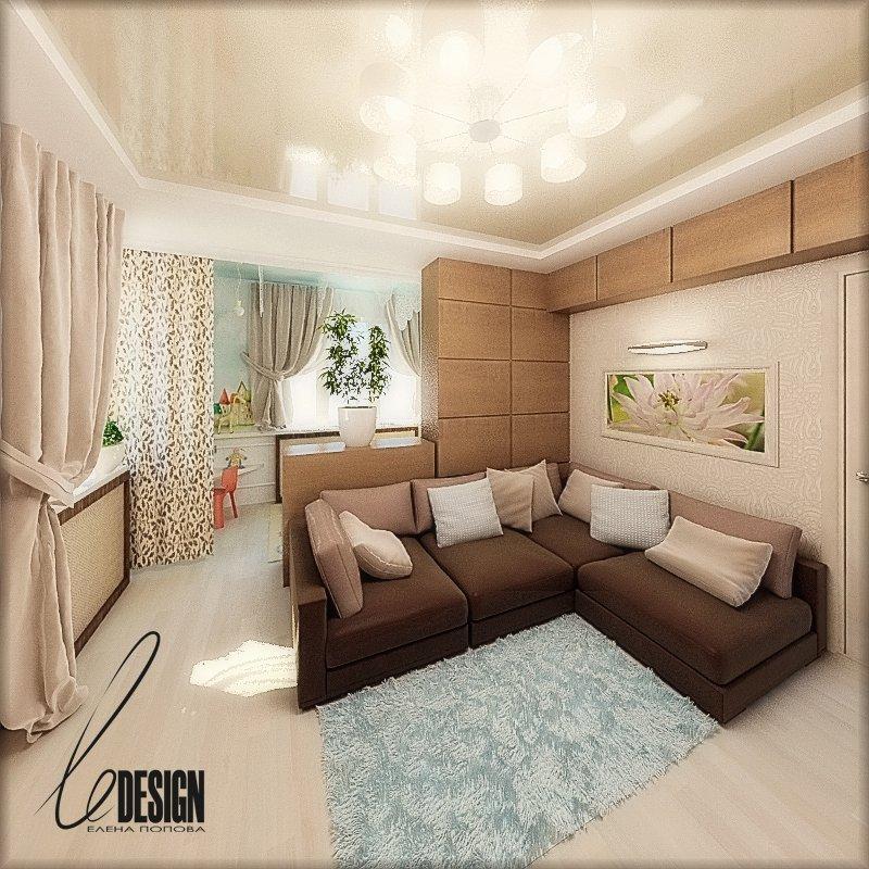 Дизайн комнаты 17 кв м с двумя