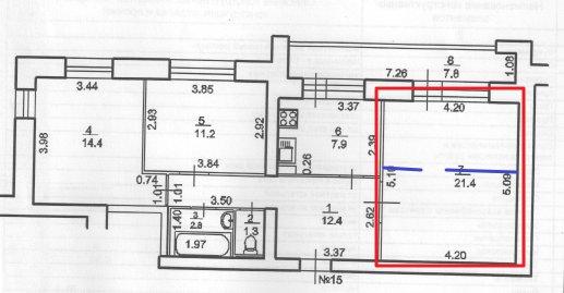 Добрый день.  Хочу попросить совета, из чего сделать перегородку, делящую комнату 5,1*4,2 поперек.