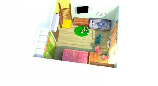 расстановка мебели в прямоугольной