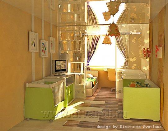 Дизайн детской 12 кв.м для девочки