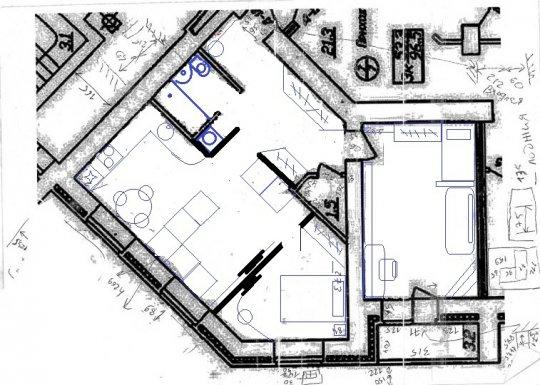 Перепланировка 3 х комнатной квартиры 58 кв м