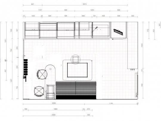Дизайн кухни 12 кв.м со спальным местом